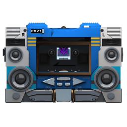 Transformers Soundwave No Tape Front Sticker