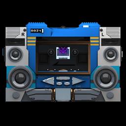 Transformers Soundwave No Tape Front Sticker