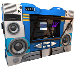 Transformers Soundwave No Tape Side Sticker