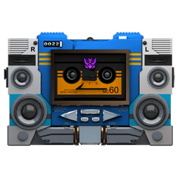 Transformers Soundwave Tape Front Sticker