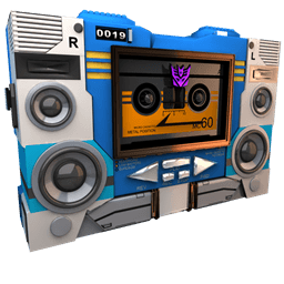 Transformers Soundwave Tape Side Sticker