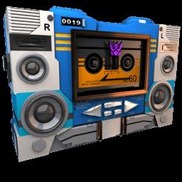 Transformers Soundwave Tape Side Sticker