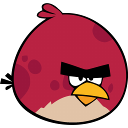 Angry Bird Red Sticker