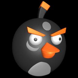 Bird Black Sticker