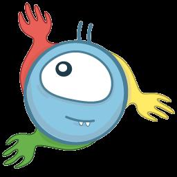 Monster Chrome Sticker