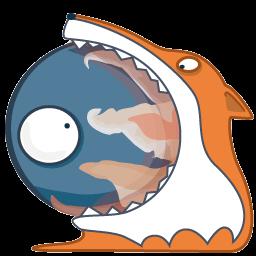 Monster Firefox Sticker