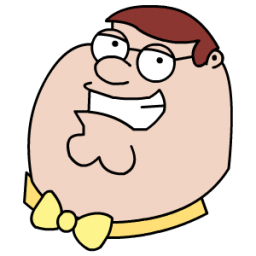 Peter Griffen Tux Head Sticker
