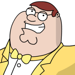 Peter Griffen Tux Zoomed 2 Sticker