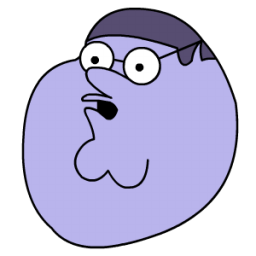 Peter Griffin Blueberry Head Sticker