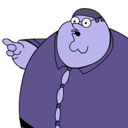 Peter Griffin Blueberry Zoomed Sticker