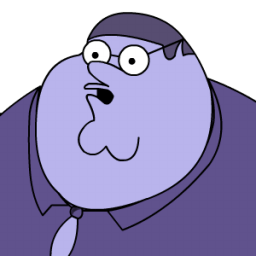 Peter Griffin Blueberry Zoomed 2 Sticker