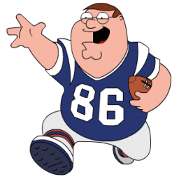 Peter Griffin Football Sticker
