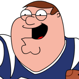Peter Griffin Football Zoomed 2 Sticker