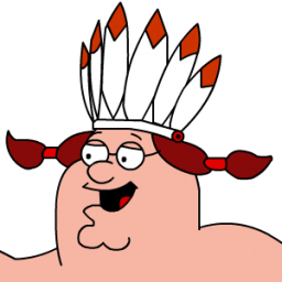 Peter Griffin Indian Zoomed 2 Sticker