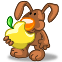 Rabbit Apple Sticker