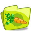 Carrot Green Folder Sticker
