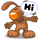 Rabbit Chat Hi Sticker