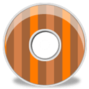 Disk Brown Orange Stripes Sticker