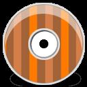 Disk Brown Orange Stripes Sticker