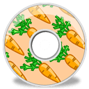 Disk Carrots Sticker