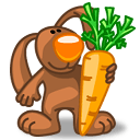 Rabbit Favorite Carrot Sticker