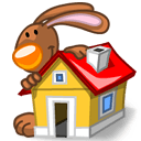 Rabbit Home Sticker