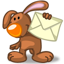 Rabbit Mail Sticker
