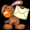 Rabbit Mail Sticker