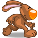 Rabbit Walking Sticker