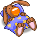 Rabbit Sleeping Sticker