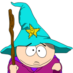 Cartman Gandalf Zoomed Sticker
