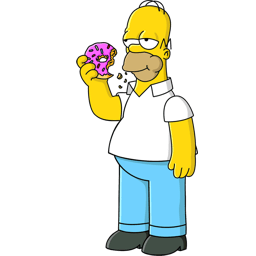 Homer Simpson Donut Sticker