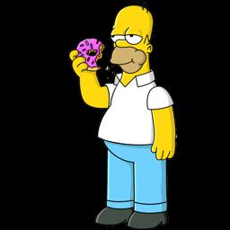 Homer Simpson Donut Sticker