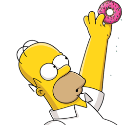 Homer Simpson Donut 2 Sticker