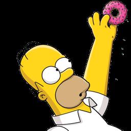 Homer Simpson Donut 2 Sticker