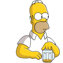 Homer Simpson Beer Sticker