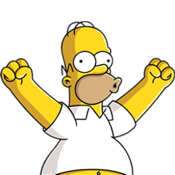 Homer Simpson Happy Sticker