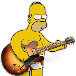 Garage Band Homer Sticker