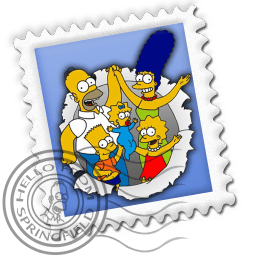 Mail Simpsons Sticker