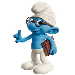 Brainy Smurf Sticker