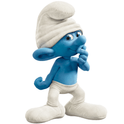 Clumsy Smurf Sticker