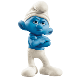 Grouchy Smurf Sticker