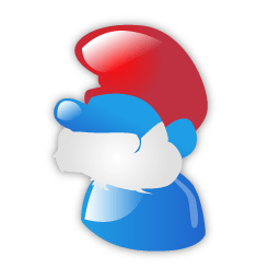 Papa Smurf Sticker