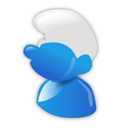 Smurf Sticker