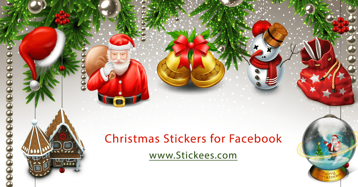 Christmas Stickers for Facebook Timeline, Chat & Email | Stickees.com