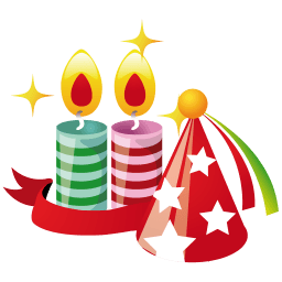Party Hat Candles Sticker