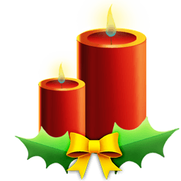 Candles With Ribbon Sticker