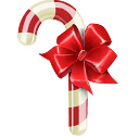 Christmas Candy Cane Stickers