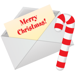Christmas Letter Sticker