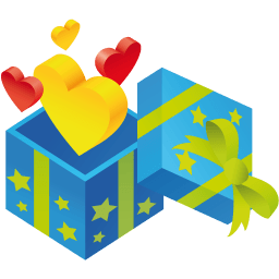 Gift Hearts Sticker